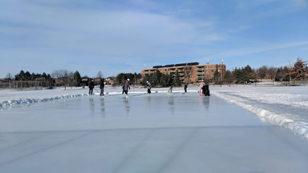 Social Distancing Community Ice Rink